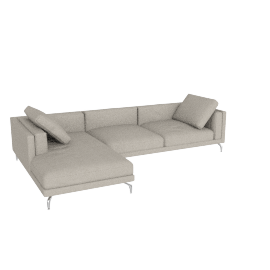 Como Sectional Left Chaise, Boucle - Dove