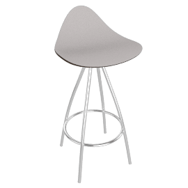 Onda Counter Stool Chrome - Mtte.BrnStone