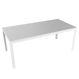 Min Table, Large with Steel Top - Steel
