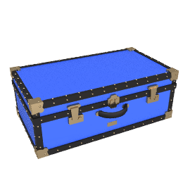 Traditional Attache Trunk, Royal Blue