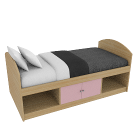 Corey Cabin Bed, Pink