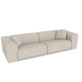 Kelston 115'' Sofa, Leather: Gesso
