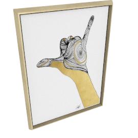 Sign Language V by KelliEllis - 30''x40'', Gold