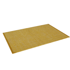 Fish Scale Dhurrie - 60x90 cms, Yellow