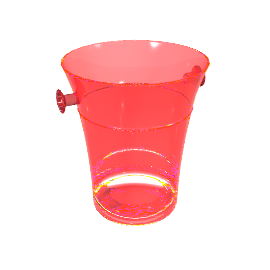 Acrylic Champagne Bucket, Red