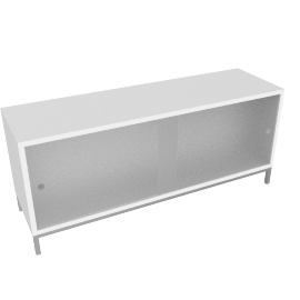 Sapporo Shelving, One High - Caster Base - White