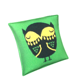 Donna Wilson Owl Cushion, Green
