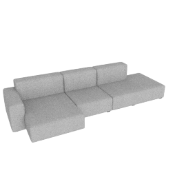 Mags Soft Low Wide Sectional with Left Chaise, Remix 0123 light grey