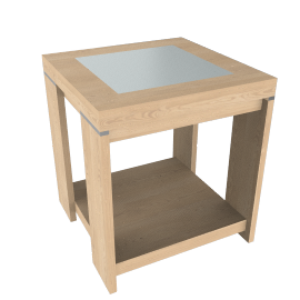 Strata Lamp Table, Maple