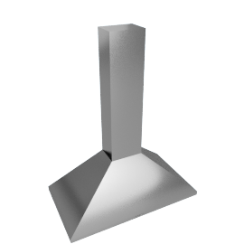 Elica Concept Key 90 Chimney Cooker Hood, Stainless Steel