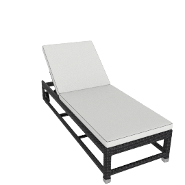 Ilano Sun Lounger, Black