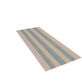 Solid Stripes Floor Mat - Large Runner