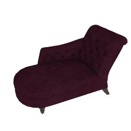 Hayworth LHF Chaise Longue, Ruben Blackberry
