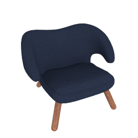 Pelican Chair, Canvas Indigo