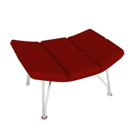 Jehs and Laub Ottoman, Wire Base – Fabric