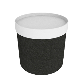 Drum Pouf, High - Antracite/White Tray