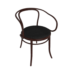 Era Armchair with Upholstered Seat