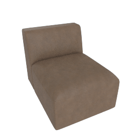 Juno modular - Single Seat, Columnbus Brown Leather