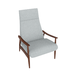 Milo Baughman Recliner 74, Maharam Mode Fabric, Surf