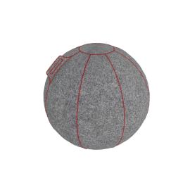 HOCK - VLUV FELT, GREY FLECKED / RED