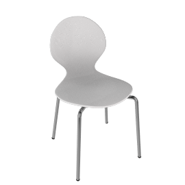 John Lewis Value Curve ChairWhite