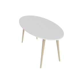 DELTA DINING TABLE ELLIPTICAL by tvilum