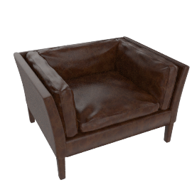 John Lewis Groucho Leather Armchair