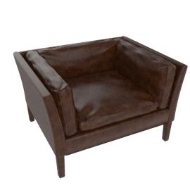 John Lewis Groucho Leather Armchair