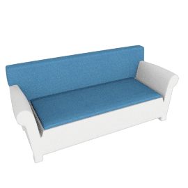 "Kartell Bubble Club Sofa 1"" Sunbrella Seat Cushion"