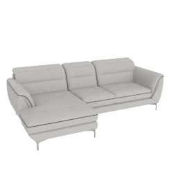 Galium Corner Sofa Left, Light Grey