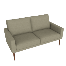 Raleigh Two Seater Sofa - Slubby Weave, Parchment