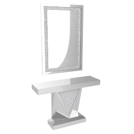 Crystal Console Table and Mirror