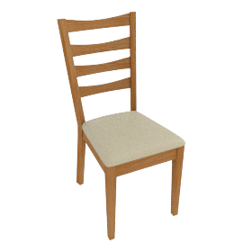 Alba Ladderback Dining Chairs, Cream