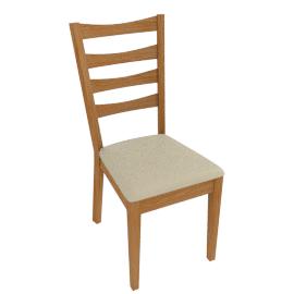 Alba Ladderback Dining Chairs, Cream