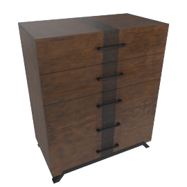 Icon Textured 5-Drawer Chest of Drawers