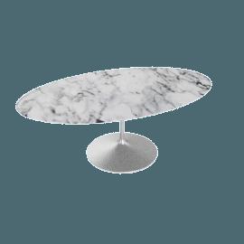 Saarinen Oval Dining Table 78'', Coated Marble 1 - Plt.Arabescato