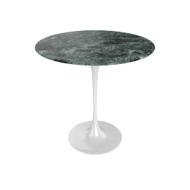 Saarinen Side Table - Coated Marble 2 - Wht.VerdeAlpi
