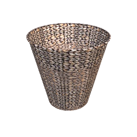 Water Hyacinth Fishbone Weave Wastepaper Bin
