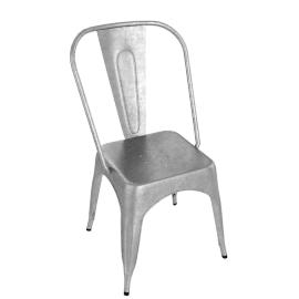 Pair of Legend Café Chairs, Galvanized