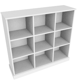 Charlie 9 Box Storage, White
