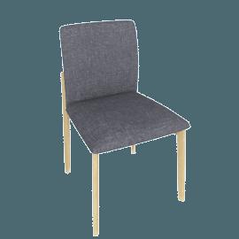 Contour Chair, Pebbe Weave Pumice with Oak Leg