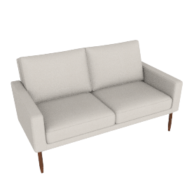 Raleigh Two Seater Sofa - Slubby Weave, Ivory