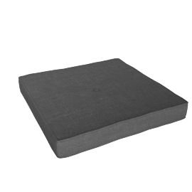 Brunel Stool Cushion, Smoke Grey Fabric