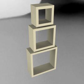 Geo Open Cube Shelves, Set of 3, White