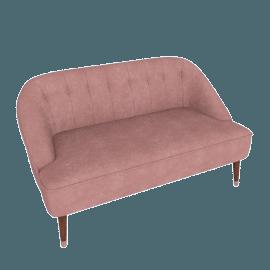 Margot 2 Seater Sofa, Old Rose Velvet