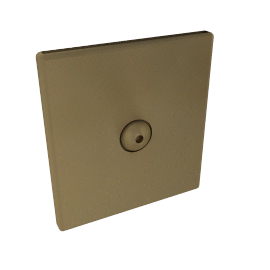 Light Switch, Oxford 1 Gang, 1 Way Touch Dimmer, Brushed Brass