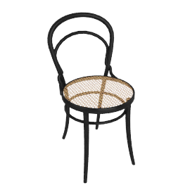 Era Chair with Cane - Black