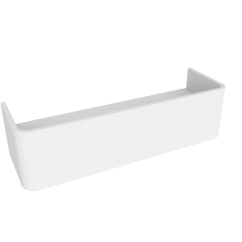 Esme compact floating shelf, white