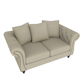 Lucas Studded 2-Seater Sofa
