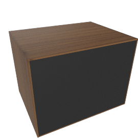 Forma Small Box with Door, Walnut/Graphite